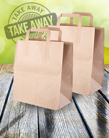Kraft Delivery Brown Bags with Handles