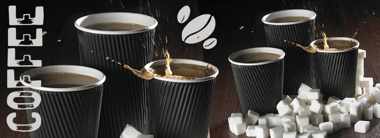 Black Ripple Coffee Cups