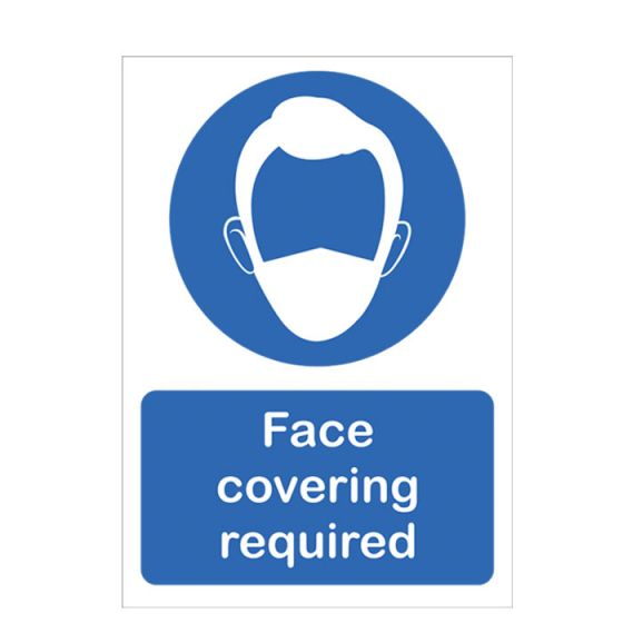 Face Covering Required  Vinyl Sticker A4