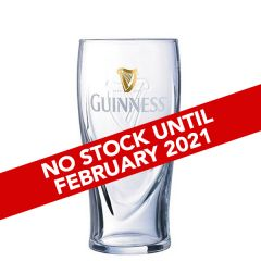 Toughened Guinness Branded Pint Beer Glass CE