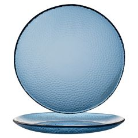 "Churchill Isla Ocean Blue Organic Glass Plate 11.625"" / 29.5cm"