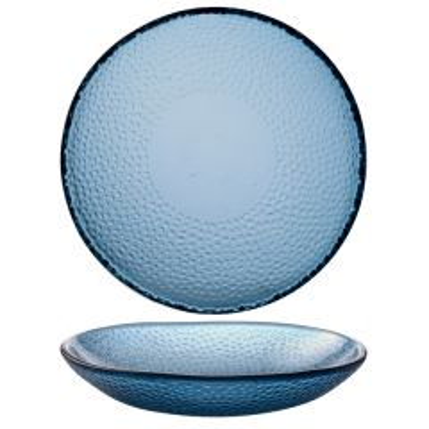 "Churchill Isla Ocean Blue Organic Glass Bowl 9.625"" / 24.5cm"