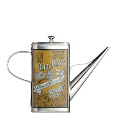 Italian Collection Stainless Steel Oil Can Drizzler Bottle 17oz / 50cl