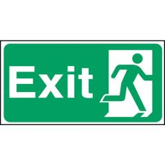 Green Fire Exit Flexible Plastic Sign 15x30cm