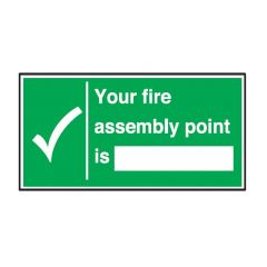 Your Fire Assembly Point Flexible Plastic Sign 15x30cm