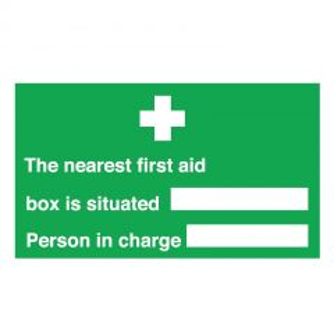 Nearest First Aid Box / Person Sticker 15x30cm