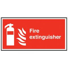 Fire Extinguisher Sticker 10x20cm