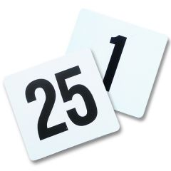 Banquet Numbers Plastic Black on White 1 - 25