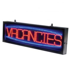 LED Sign With Static & Chase Function & Hanging Chain 180x610x40mm