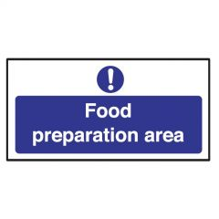 Food Preparation Area Sticker 10x20cm