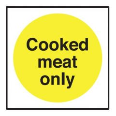 Cooked Meat Only Sticker 10x10cm