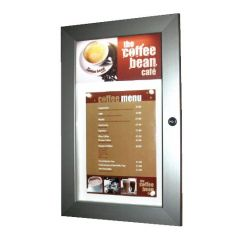 Menu Case Illuminated  A4 With Additional Header Area 355 x 567 x 32mm