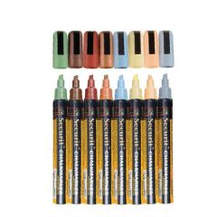 Water Soluable Earth Tones Chalk Markers 2-6mm Nib