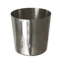 """Stainless Steel Chip Cup Plain 3.5"""" / 9cm"""
