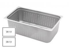 Stainless Steel Perforated Gastronorm 1/2 65mm