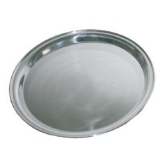 "Stainless Steel Round Tray 16"" / 40cm"