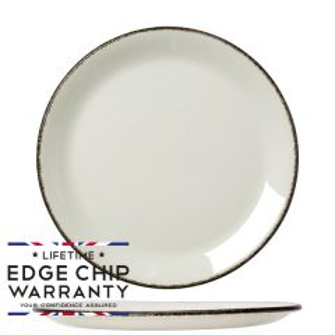 "Steelite Charcoal Dapple Coupe Plate 9"" / 23cm"