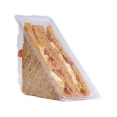Disposable Plastic Hinged Standard Fill Sandwich Wedge 7cm