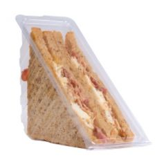 Disposable Plastic Hinged Deep Fill Sandwich Wedge 8cm