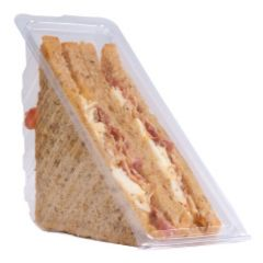 Disposable Plastic Hinged Triple Fill Sandwich Wedge 9cm