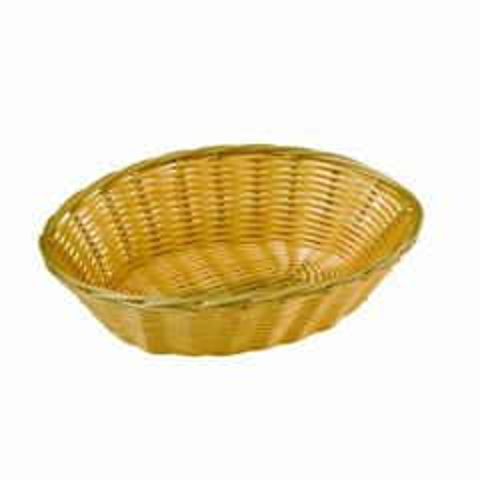"""Poly-Rattan Bread Basket Oval Dishwasher Safe 9"""" / 23cm"""
