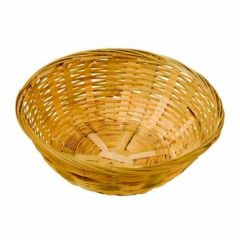 """Woven Bamboo Bread Basket Round 8"""" / 20cm"""