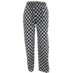 """Black and White Checkerboard Chefs Trousers Medium 32-34"""""""