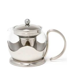 La Cafetiere Le Teapot Stainless Steel & Glass Infuser 4 Cup