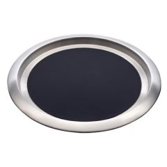 "Elia Delux Stainless Steel Round Tray With Non-Slip Insert 16"" / 41cm 18/10"