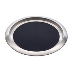 "Elia Delux 18/10 Stainless Steel Round Tray with Non-Slip Insert 14"" / 36cm"