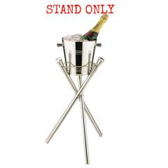 "Elia Wave Collapsible Tripod Stand Stainless Steel 20"" / 51cm Tall"