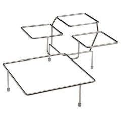 """Large Buffet Stand Chrome Plated for 4 Bowls 15.33x15.33x6.66""""/39x39x17cm"""