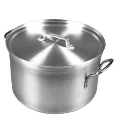 "Heavy Duty Aluminium Casserole Pan with Lid 34 Litre 15.75"" / 40cm"