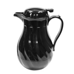 Black Swirl Insulated Beverage Server with Push Button Lid 64oz / 1.8Ltr
