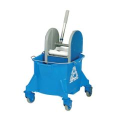 Blue Smoothline Kentucky Mop Bucket with Plastic Wringer 23Ltr