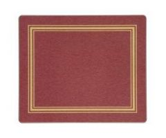 """Lady Clare Table Mat  Red and Gold 9.4x7.9"""" / 23.8x20.1cm"""