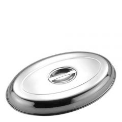 "Stainless Steel Oval Vegetable Dish Cover 12"" / 30cm"