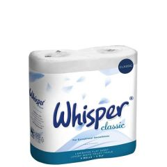 Whisper Classic Luxury Toilet Tissue 3 Ply 240 Sheets