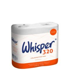 Whisper Toilet Roll 2 Ply 320 Sheets