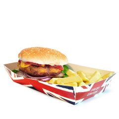 Union Jack Design Tapered Food Tray 190/220x85/115x45mm