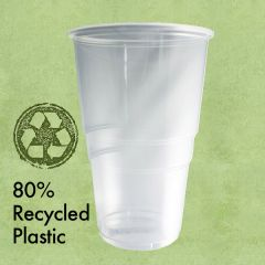 Disposable rPET Pint Tumbler CE to Brim 20oz / 57cl