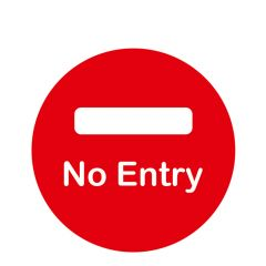 Anti-Slip No Entry  Floor Sticker 300mm Diameter
