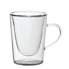 Double Walled Handled Latte Coffee Glass 10oz / 28cl