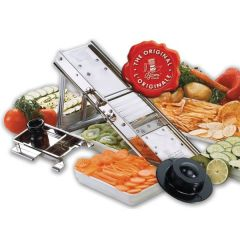 Stainless Steel Bron Mandoline with Matching Safety Guard 40x11.5cm