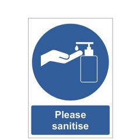 Please Sanitise Vinyl Sticker A5