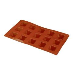 Flexible Silicone 1/3 GN 15 Pyramid Pastry Mould 36x36x22mm 20ml
