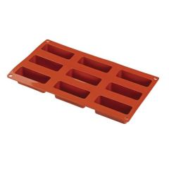 Flexible Silicone 1/3 GN 9 Rectangular Cake Pastry Mould 80x30x30mm 100ml
