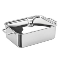 "Stainless Steel Rectangular Roasting Dish 6x4.5"" / 15x11cm"