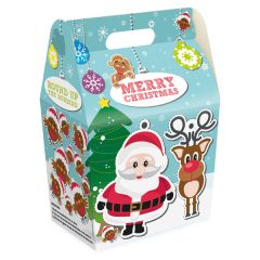 Disposable Childrens Merry Christmas Meal Box 132x92x200mm