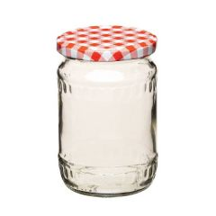 Preserving Jar with Red Gingham Check Screw Lid 20oz / 580ml